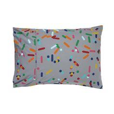 Sprinkles grey pillowcase