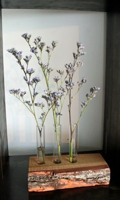 Trio Bud Vases in Wood by HandyDandyProduction on Etsy, $20.00