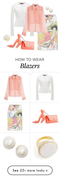 """""""outfit 3897"""" by natalyag on Polyvore featuring Rochas, Christian Louboutin and Kate Spade"""