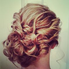 Hair by ramsaymarstonhair.com., loose side bun.romanic curls.