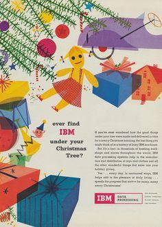 Vintage IBM Christmas ad