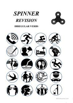 Irregular verbs - fidget spinner - a game