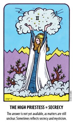 II. The High Priestess. Secrecy. Tell-Me Tarot