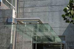 minimal glass canopy