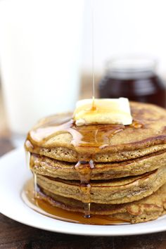 Celebrate the winter holidays with these delicious gingerbread pancakes and cinnamon syrup. Ready to eat in less than 30 minutes these are part of our family tradition and will soon be a part of yours!