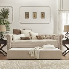 SIGNAL HILLS Knightsbridge Tufted Scroll Arm Chesterfield Daybed and Trundle - 17337288 - Overstock.com Shopping - Great Deals on Signal Hills Beds
