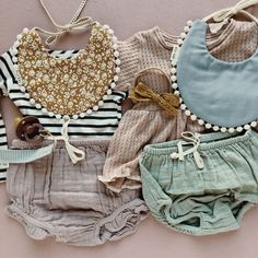 Bibs, lace bow and pacifier clip from Billy Bibs. Shirt from Mabo & Rose & Belle. Bloomers from Jamie Kay Cute Baby Girl Outfits, Baby Girl Shoes, Cute Outfits For Kids, Cute Baby Clothes, Boy Outfits, Hippie Baby Clothes, Toddler Outfits, Toddler Girls, Baby Girl Fashion