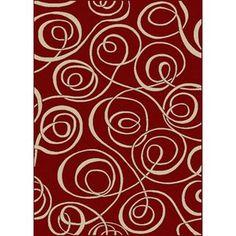 Radici USA Vesuvio Swirl Red Rug
