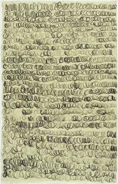 Pierrette Bloch (1928 - ) - Sans titre - 2012 - Fusain sur papier