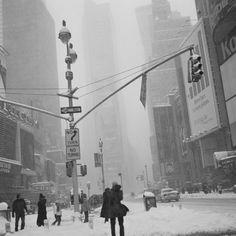 Wintereinbruch in Manhattan, New York City