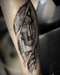 Biomechanical tattoo by Victoria TattooArtist