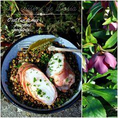 Tournedos de cabillaud et lard croustillant, lentilles du Puy