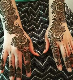 Beautiful and Easy Henna Arabic Mehndi Designs for every occasion - ArtsyCraftsy., Beautiful and Easy Henna Arabic Mehndi Designs for every occasion - ArtsyCraftsy. Henna Hand Designs, Mehndi Designs Finger, Latest Arabic Mehndi Designs, Mehndi Designs For Girls, Mehndi Designs For Beginners, Mehndi Design Pictures, Mehndi Designs For Fingers, Latest Mehndi Designs, Henna Tattoo Designs