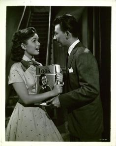 "Donald O'Connor & Debbie Reynolds in ""I Love Melvin"""