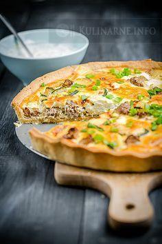 Tarta z mielonym mięsem i cukinią-do modyfikacji Quiche, Snack Recipes, Cooking Recipes, Healthy Recipes, Dinner Tonight, Food Photo, Food Inspiration, Food And Drink, Yummy Food