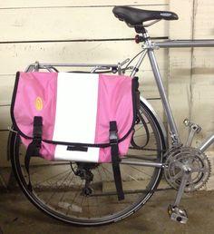 Hack your messenger bag to make a bike pannier