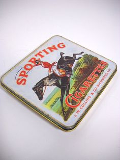 Your place to buy and sell all things handmade Vintage Cigarette Case, Cigarette Box, Old Boxes, Trays, Ash, Metal, Handmade, Stuff To Buy, Old Crates