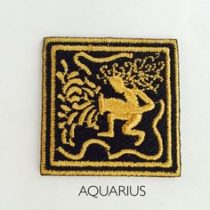 Yellow Constellation Mark Embroidered Sew Iron on Badge Patches Applique