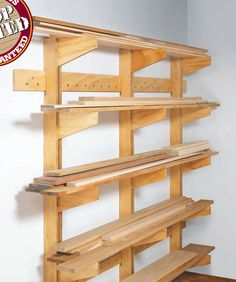 Wall-Mounted Lumber Rack & Lumber storage: