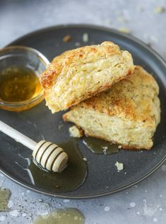 """For the love of the scone! These cheddar scones with honey and black pepper are little triangles of heaven. And you know. When I think about writing something such as """"who doesn't love a scone?!,"""" I have to hesitate. Because in my life, there are many people who do not love a scone. Eddie. My …"""
