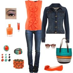 Denim & Accessory options, created by guardwife on Polyvore