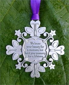 Snowflake Ornament to Remember Child Loss