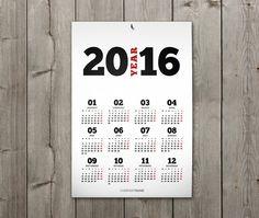 Poster Wall Calendar 2016 Template KJP-W1. por CalendarsTemplates Wall Desk, Wmf, Desk Calendars, Planner Template, Weekly Planner, Poster Wall, Templates, Etsy, Design