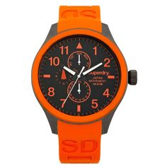superdry orange and grey watch