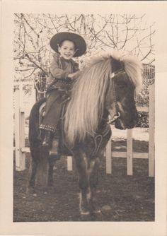 4 Vintage Photos Children Infants Horses Cowboy Horseback Saddle Riding Pony | eBay