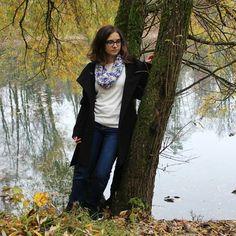 #autumn #scarf #knitting #handmade #streetstyle #florest