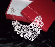 Ivory Delicate Venise Lace Victorian Necklace NEW by Medievaltomodern by medievaltomodern on Etsy