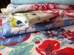 Vintage tablecloths -- how I love them!