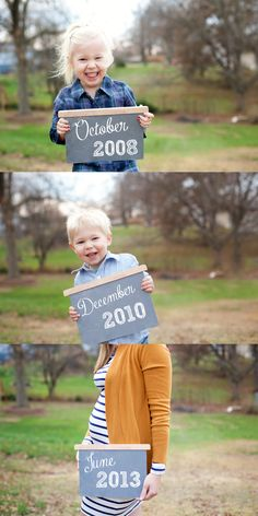 Cute pregnancy announcement!  { Nicole J Photography -   www.nicolejphotography.com }