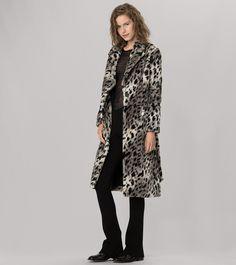 maje KIRIKOU Faux Fur Leopard Coat at Maje US