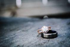 Don't you love unique wedding rings? 3 Stone Diamond Ring, Diamond Bands, Diamond Cuts, Emerald Cut Engagement, Best Engagement Rings, Emerald Cut Diamonds, Princess Cut Diamonds, Statement Earrings, Wedding Rings