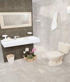 El baño, ese lugar donde salen las mejores ideas. Hazlo tuyo con esta combinación de colores y texturas #Tendencia #Decoración #Baño