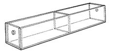 """Narrow Tray with Two 5 3/4""""-wide compartments. 2"""" H x12"""" W x 2 1/2"""" D"""