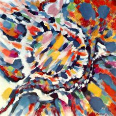 La Sève, 1963 by Alfred Manessier. Lyrical Abstraction. abstract