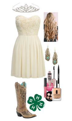 """4-H Queen"" by gunpowderprincess ❤ liked on Polyvore featuring Clinique, MAC Cosmetics, Lipsy, Eye Candy, Accessorize, Maybelline, Trish McEvoy and NARS Cosmetics"