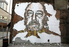 Vhils does amazing work. And the owner of the bldg next to Mainstay put up a fence because this was drawing too much attention. /dickmove