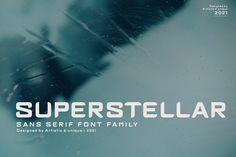 Superstellar - Sans serif font famil by Artistic & Unique