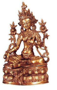 Grüne Tara aus Messing - 37 cm Messing, Buddha, Greek, Shopping, Art, Green Tara, Buddhism, Statues, Figurines