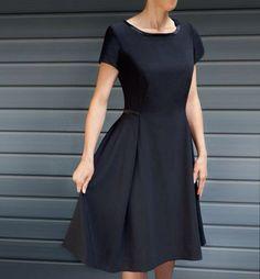 Kleines schwarzes Kleid in A-Linien Form selber nähen