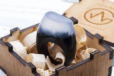 "Wooden Ring ""LIMERENCE-Black"""