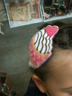 Alice band in pastry, cerchietto a forma di pasticcino