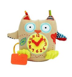Toddler Toys, Kids Toys, Owl Clock, Best Gifts For Tweens, Tween Girl Gifts, Velour Fabric, Little Owl, Toddler Christmas, Baby Owls