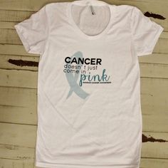 Image of Fitted Women's in White - Ovarian Cancer Awareness