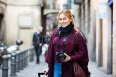 Image result for woman taking photo outdoors
