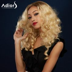 #Rosewholesale - #Rosewholesale Adiors Long Colormix Side Parting Shaggy Wavy Synthetic Wig - AdoreWe.com
