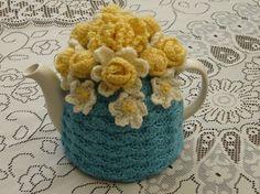46 Cup Crochet Tea Cosy/ Tea Cozy/ Cosy/ by andrealesleycrochet, £19.00.  Nice color combination.